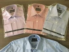 4 X Size S 37 - 38 Mens SHIRT LOUNGE Slim Fit long sleeved shirts Cuff links NEW