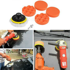 New 7pcs 4 inch Polishing Sponge Buffer Pad M10 Drill Adapter Kit For Car Auto