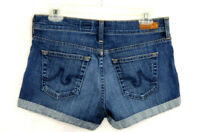 """AG Adriano Goldschhmied  """"THE PIXIE"""" Roll-Up Denim Shorts ~ Womens Size 27 ~ USA"""