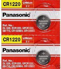 2 x CR1220 ECR1220 CR 1220  3v Lithium battery By Panasonic