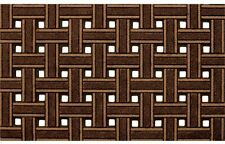 Apache At Home 945-1440 18 X 30 Brown Recycled Rubber Weave Door Mat