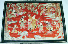130x91cm China Stickerei antique chinese gold silk embroidery boys dragon gods