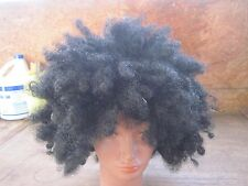 Black Afro Wig..One Size Fits All..Black..100% Synthetic..