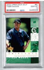 2002 Upper Deck Golf Tiger Woods PSA 10