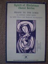 Praise Ye the Lord (Satb Choir) - Camille Saint-Säens