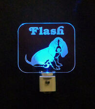 Basset Hound Dog LED Night Light Personalized Lamp, handmade Puppy