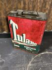 Vintage+TULANE+MOTOR+OIL+SAE30+Empty+2+Gallon+OIL+CAN+Nice+Graphics%21