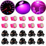 10x Pink Instrument Panel Cluster 8SMD LED Light Bulb Dashboard + PC194 Sockets