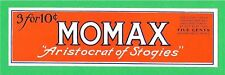 50 Momax Frankle Tobacco Co Cigar Label Youngstown Ohio