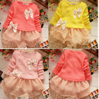 Toddler Baby Girls Clothes Princess Lace Party Dresses Kid tutu Dress Skirt 1-4Y
