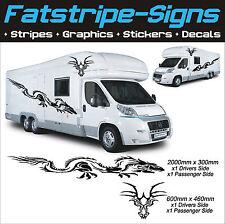 Dragon gráficos autocaravana Vinilo Stickers Calcomanías furgoneta Camper RV Caravan Horsebox