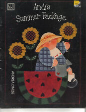 ANDI'S SUMMER PACKAGE PAINTING PATTERN BOOK PILGRIMS, UNCLE SAM WATERMELON WILMA