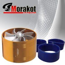 "3"" Tornado Turbonator Intake Single Fan Gas Fuel Saver Supercharger Gold"