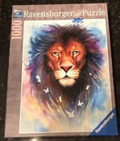 Ravensburger Original Quality Jigsaw Puzzle 1000 Pieces Majestic Lion Used Once