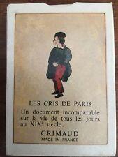 LES CRIS DE PARIS SIGNAL DECK VINTAGE PLAYING CARDS GRIMAUD