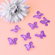 NUOLUX 50PCS Mesh Butterfly Rhinestone Sheer Glittering Supplies for Wedding DIY