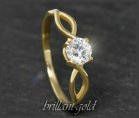 Diamant 585 Gold Brillant Damen Solitär Ring 0,54 ct, Top Wesselton, Si3, NEU!