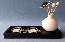 service à thé Chandelier Vase Rotin Noir 26 cm NEUF