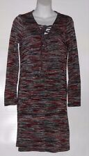John Paul Richard Ladies Long Sleeve Lace-Up Dress Silver Space Dye S NWT