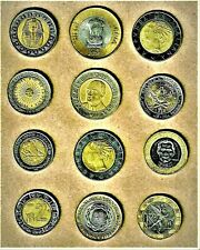 "World Coin ""Bimetallic' lot of 12 quality coins E.F. thru  A.U. +"