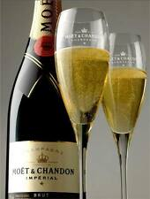 MOET CHANDON CHAMPAGNE IMPERIAL FLUTES X 2 BRAND NEW UNBOXED