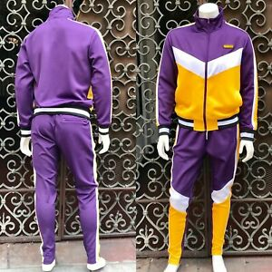 Men's Hudson Purple | White | Yellow Fashion Tracksuit