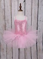 Girl Gymnastics Ballet Dress Toddler Child Leotard Tutu Skirt Dance wear Costume