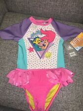 Disney Little Mermaid Ariel Swimsuit Top & Bottoms 50+ Size 5/6 New With Tags