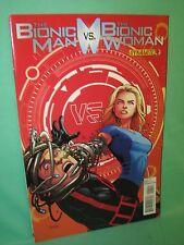 Bionic Man vs Bionic Woman #4 Sean Chen 1st Print Comic Dynamite Comics VF