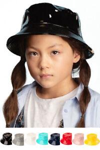 ScarvesMe C.C Children Kids Girl 2-9 Years Waterproof Shiny Rain Bucket Cap Hat