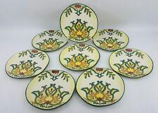 "MAXCERA Set of 8 ""GREEN MOROCCO"" Porcelain 8 1/4"" Round Plates"