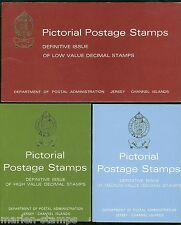 Jersey Definitive Decimal Series 3 Presentation Packs Consisting Of 16 Stamps