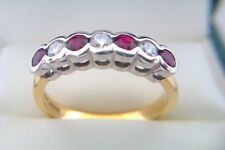 Beautiful 18ct Gold Platinum Ruby & Diamonds Ladies Ring 2008