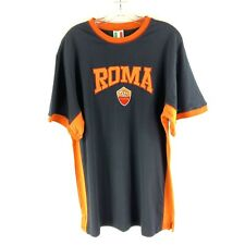 Italia Mens Soccer Shirt Black Orange ROMA Applique Romulus Remus SS 3XL