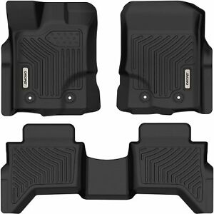 OEDRO Floor Mats TPE All-Weather Guard for 2019-2021 Ford Ranger Supercrew Cab