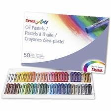 Pentel Oil Pastels Set 50 Crayons Sticks Colors Drawing Painting Art Artist Kids