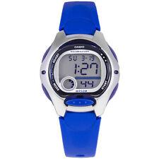 Casio Women's 10-Year Battery Life Backlight Digital Blue Resin Watch LW200-2AV