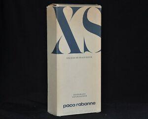 XS Paco Rabanne Excess De Fraicheur Deodorant 100 ml 3.4 oz rare Vintage