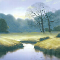 "36W""x36H"" BEFORE THE STORM by MICHAEL JOHN HILL - RIVER STREAM PASTURE CANVAS"