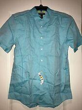 "INC ""Sea Isle"" NWT $49 Men Button Down Shirt Slim Fit 100% Cotton Green M"