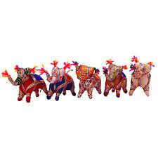 Traditional Handmade Decorative Stuffed Elephant Rajasthan Craft Table Decor