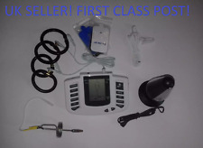 ELECTRO ESTIM TENS LCD SET WITH URETHRAL,LARGE PLUG,PADS,CLIPS,AND 4 RINGS.UK !
