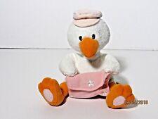 "Russ Card Holder Plush Stork Baby Girl Pink Bird Envelope 8"""