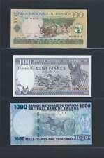 Rwanda  Lot de 3 billets différents  en état NEUF  Lot Numéro 1