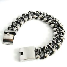 Skull Men's Curb Chain Bracelet Stainless Steel Biker Men ´S Jewellery
