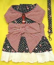 CHERRY PIE HARNESS DRESS Chacha Couture Dog Clothes XS (1 ec),  M (1 ec)