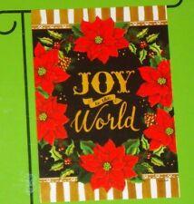 "Joy To The World small decorative art garden flag New! Christmas 12.5"" x 18"""