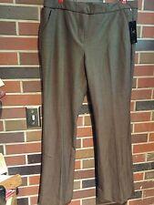 Worthington~Retro Flare Lower Rise Brown Melange Dress Pants  Size 14 NWT