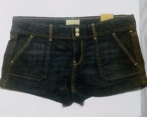 NWT Aeropostale Womens Stretch Jean Booty Shorts Sz 11 12 Low Rise MSRP $42.50