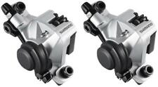 2x Shimano Br-m375 Cable Disc Brake Front & Rear Caliper Silver Inc. B01s Pads